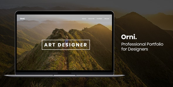 Orni - Professional Portfolio for Designers - Portfolio Creative