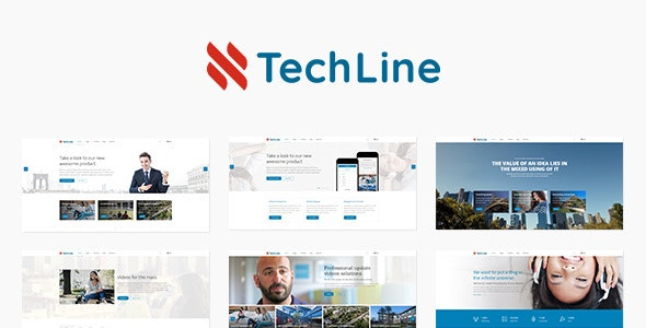 TechLine - Web services, businesses and startups Joomla template - Business Corporate