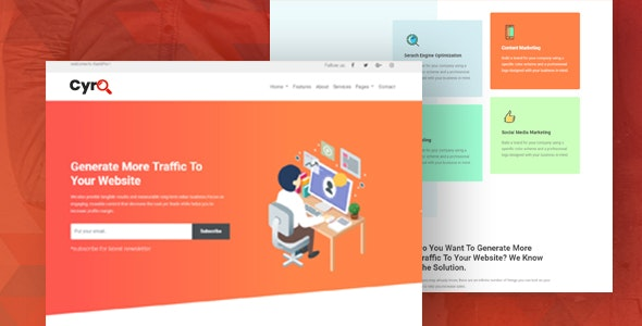 Cyro Digital Marketing Agency - Technology Site Templates