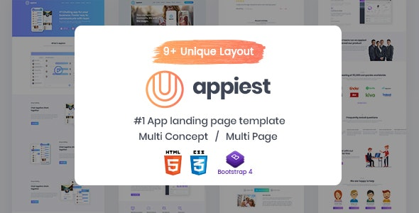 Appiest - One Page Parallax - Software Technology