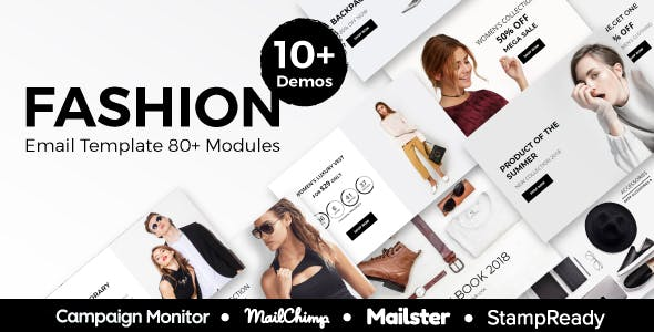 Fashion - Ecommerce Responsive Email Template With StampReady, Mailster, Mailchimp, Campaign Monitor