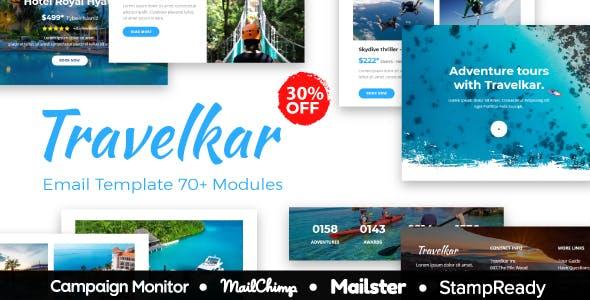 Travelkar - Responsive Email for Travel 70+ Modules - StampReady Builder + Mailster & Mailchimp
