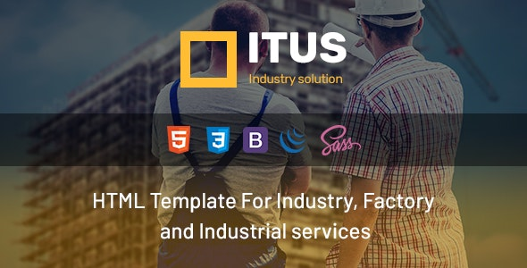 Itus - Industry, Industrial, Factory and Engineering HTML Template - Business Corporate