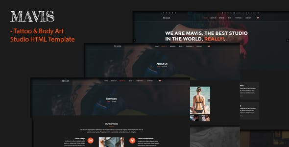 Mavis Tattoo Body Art Studio Html Template