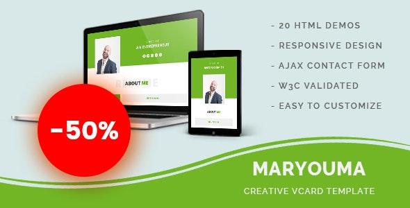 Maryouma - Creative vCard Template - Personal Site Templates