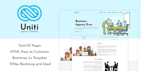 Uniti - Corporate/Agency Bootstrap 4 Template - Site Templates