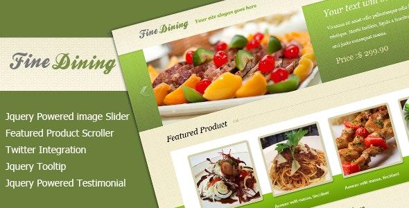 Fine Dining Landing - Food Retail