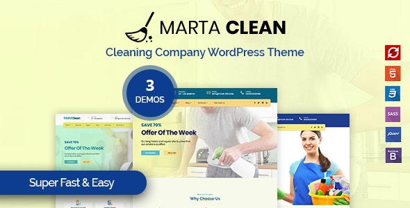 Marta - Cleaning Company WordPress Theme - Business Corporate