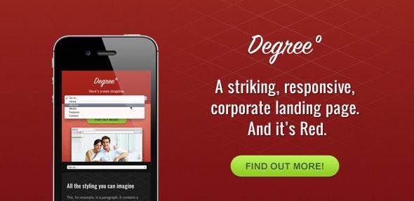 Degree° - A Responsive HTML Theme - Marketing Corporate