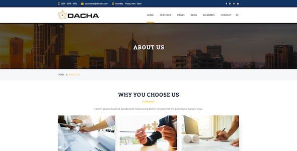 Dacha - Construction PSD Template