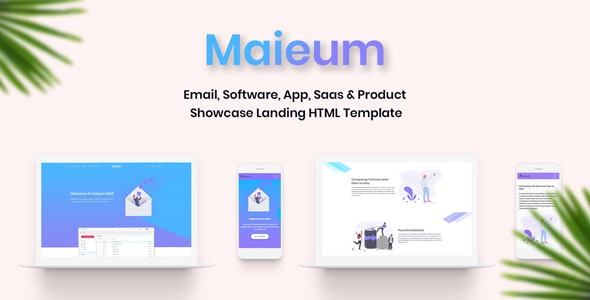 Maieum - One Page Email, Software, App Saas & Product Showcase Landing HTML Template - Corporate Site Templates