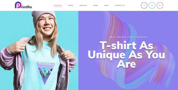 PrintRo - T-Shirt Designer PSD Template