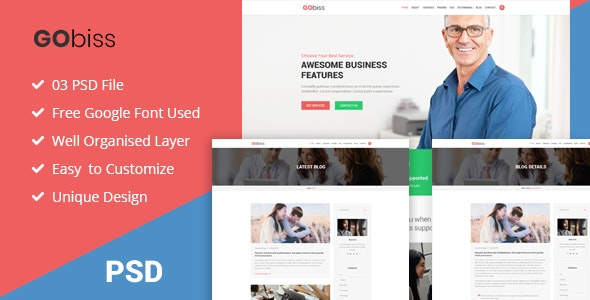 Gobiss -  Consulting and Corporate Business PSD Template - Business Corporate