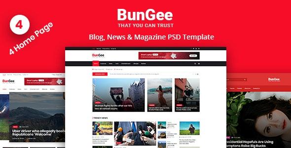 BunGee - Blog, News & Magazine PSD Template - Miscellaneous Photoshop