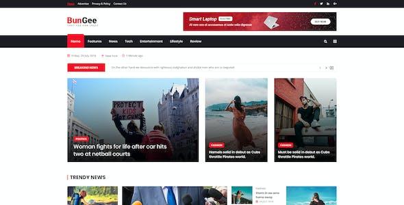 BunGee - Blog, News & Magazine PSD Template