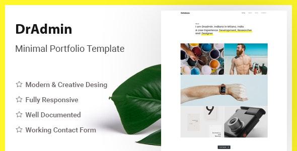 Dradmin - The Ultimate Minimal HTML5 Template - Portfolio Creative