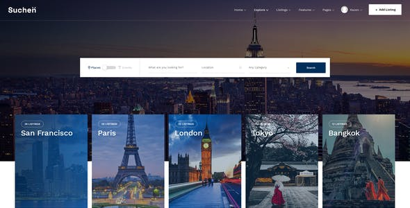 Suchen - Directory Listing PSD Template