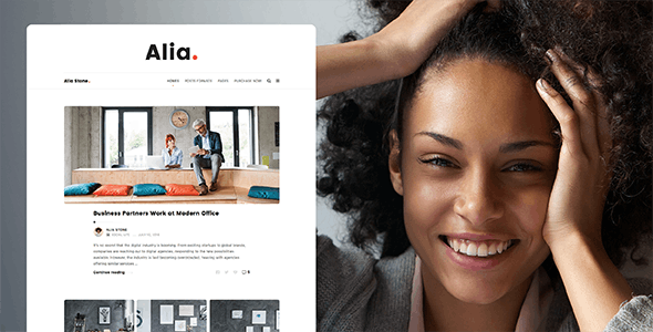 Alia - Minimal Personal Blog - Personal Blog / Magazine