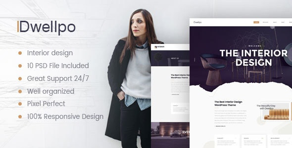 Dwellpo – Interior Design PSD Template - Business Corporate