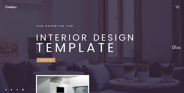 Dwellpo – Interior Design PSD Template