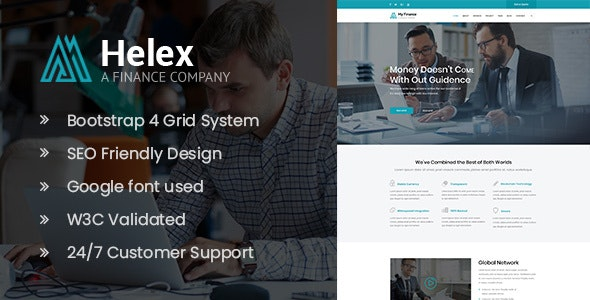 Helex - Investment and Finance HTML Site Template - Business Corporate