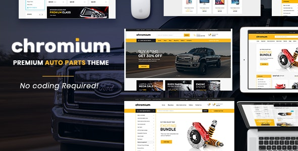 Chromium - The Auto Parts, Equipments and Accessories Opencart Theme