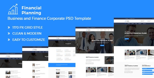 Financial Planning - Business & Finance Corporate PSD Template - Business Corporate