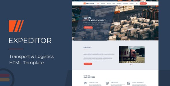 eXpeditors - Transport & Logistics Responsive HTML5 Template