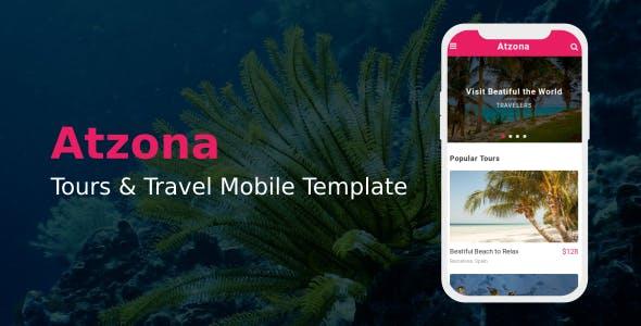 Atzona - Tours & Travel Mobile Template