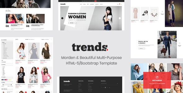 Trends - eCommerce HTML5 and Bootstrap 4 Template - Shopping Retail