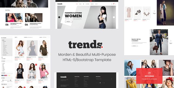 Trends - eCommerce HTML5 and Bootstrap 4 Template