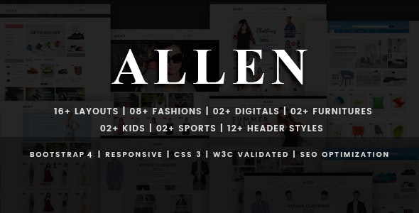 Allen - Multipurpose Store eCommerce HTML Template - Fashion Retail