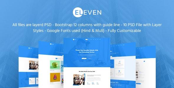 Eleven - Creative Agency & Multipurpose PSD Template - Corporate Photoshop