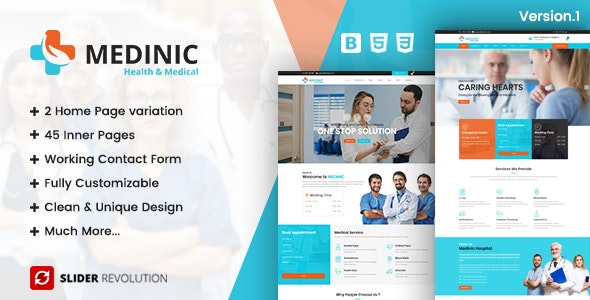 Medinic - Medical Multi-purpose Responsive HTML5 Template - Retail Site Templates