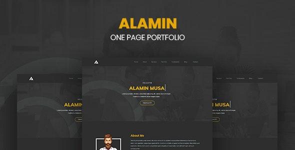 Alamin - One Page Portfolio - Portfolio Creative