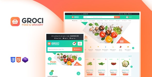 Groci - Organic Food and Grocery Market WordPress Theme - WooCommerce eCommerce