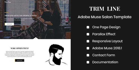 TRIM LINE - Adobe Muse Salon Template - Miscellaneous Muse Templates