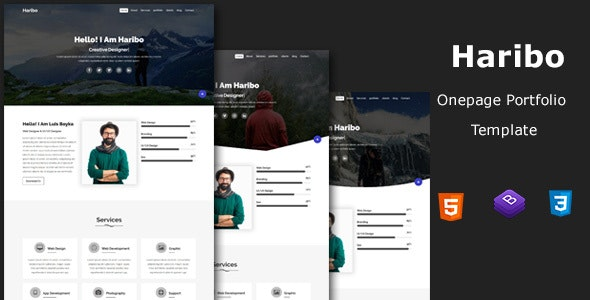 Haribo - Onepage Portfolio Template - Portfolio Creative