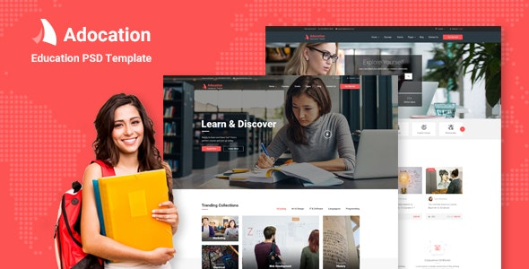 Adocation - Education PSD Template - Business Corporate