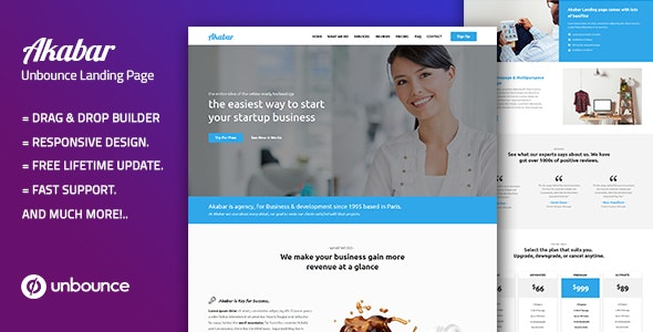 Akabar — Multi-Purpose Template with Unbounce Page Builder - Unbounce Landing Pages Marketing