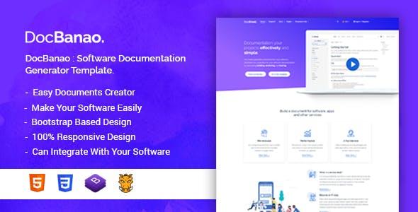 DocBanao - Software Documentation Generator HTML Template