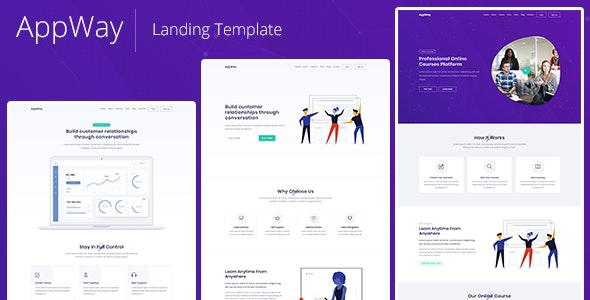 AppWay - Responsive Bootstrap 4 Landing Template - Technology Site Templates