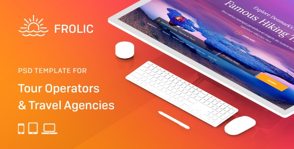 FROLIC - PSD Template for Tour Operators & Travel Agencies - Travel Retail