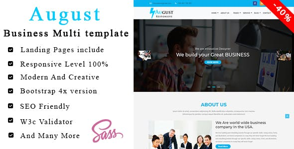 August - Trade Corporate Business Template