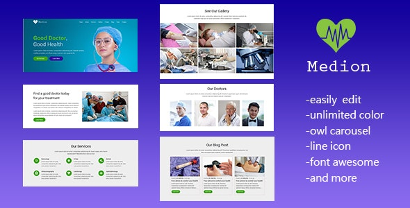 Medion - Responsive Medical and Health Landing Page Template - Landing Pages Marketing