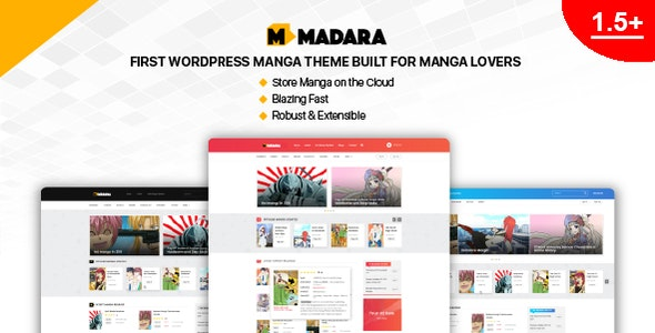 Madara - WordPress Theme for Manga - News / Editorial Blog / Magazine
