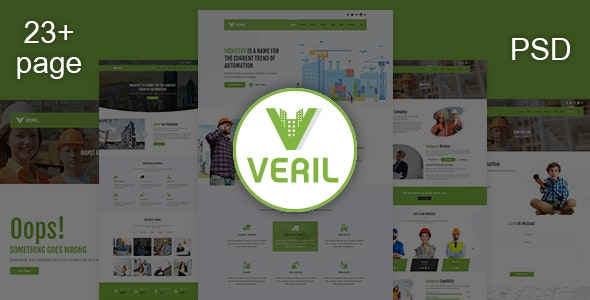 Veril - Construction and Industrial PSD Template - Business Corporate