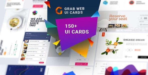 Grab-A Multipurpose Web UI Cards - Miscellaneous Photoshop