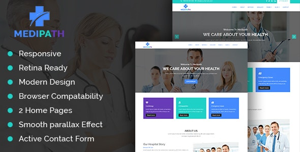 Medipath - Health and Medical Care HTML Template - Health & Beauty Retail
