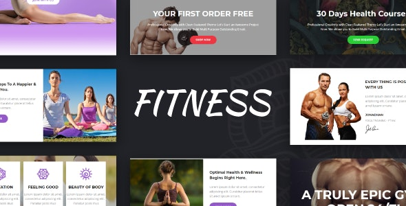 Fitness - Gym + Yoga +  Responsive Email Templates - Online Builder + Mailster + Mailchimp - Newsletters Email Templates
